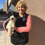 Marga Macías con un futuro perro de asistencia